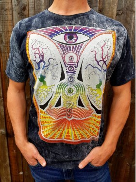 Chakra - Lotus pose - No Time - t-shirt - 100% cotton