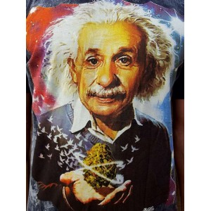 Albert Einstein- No Time - 100% Premium cotton - T shirt  - Black