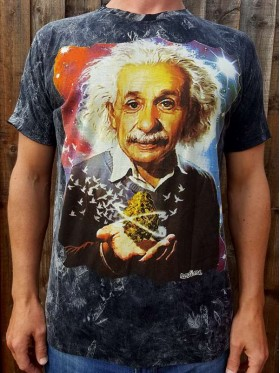 Albert Einstein-No Time-T-shirt-100% cotton-Black