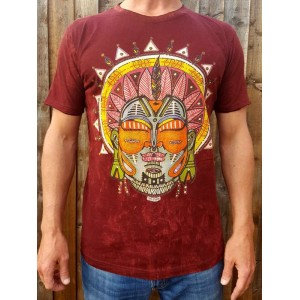 MAYAN - No Time - 100% Premium cotton - T shirt  - Maroon