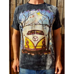 VW Camper Van- No Time - 100% Premium cotton - T shirt  - Black