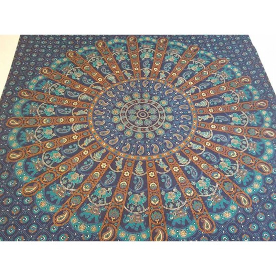Blue/Turquoise - Mandala - Wall Hanging/Tapestry/Throw/ Bed Sheet