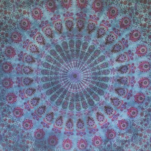Blue / Purple - Peacock Mandala - Wall Hanging / Tapestry / Throw / Bed sheet