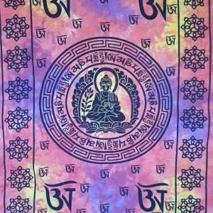 Purple-Buddha-Tibet - Mandala-Wall Hanging-Tapestry-Throw-Bed Sheet-100% Cotton-Fair Trade