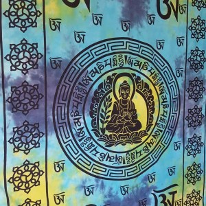 Blue - Buddha - Tibet - Mandala - Wall Hanging-Tapestry-Throw