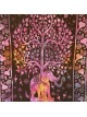 Purple-Tree of Life-Elephant-Wall Hanging-Tapestry-Throw-Bed Sheet-100% cotton-Tapestries-Fair Trade