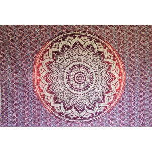 Purple Pink White - Lotus flower- Wall Hanging-Tapestry-Throw
