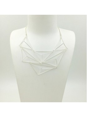 Geometric 3D triangle shape Necklace