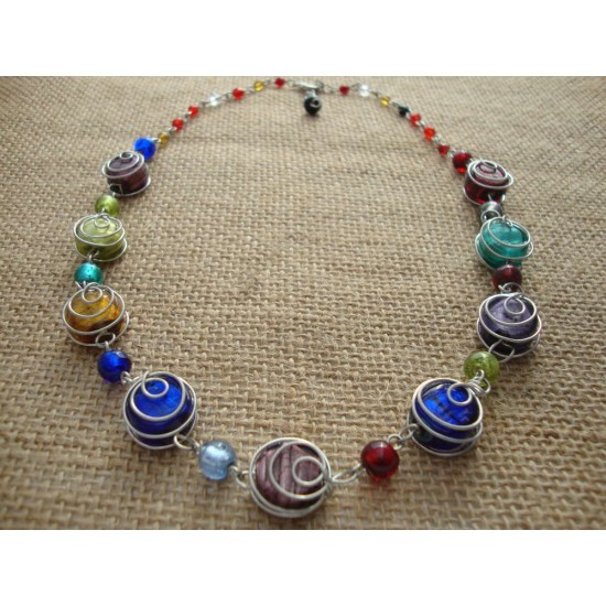 CW Necklace - Multi colour