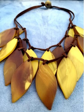 Yellow leafs  Necklace