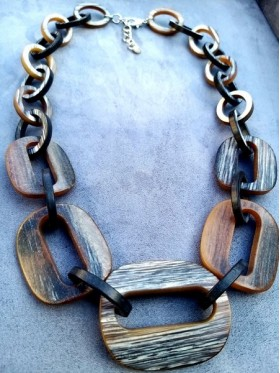 Brown and black Loops Necklace