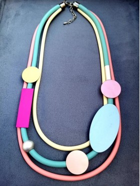 Shapes and Rubber Necklace