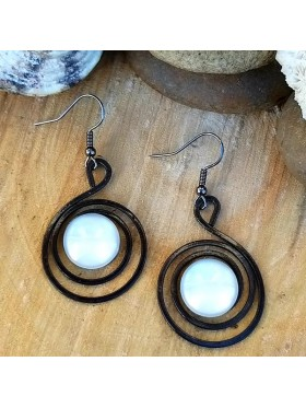 Circles BCN Earrings - White