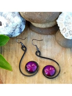 Six Shape BCN Earrings - Deep Purple