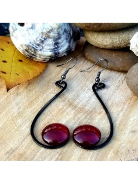 Six Shape BCN Earrings - Deep Red