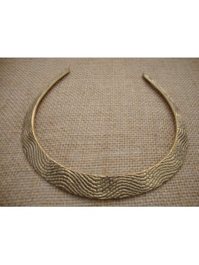 Aztec Collar Necklace - Gold