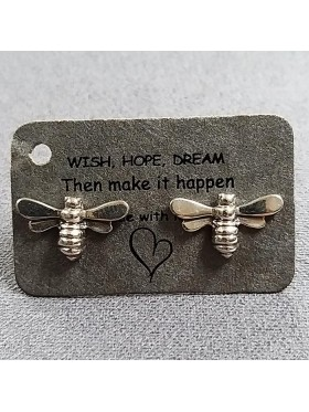 Bee Stud -  92.5 Sterling Silver Earrings