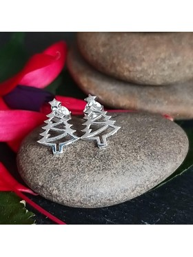 Christmas Tree Stud -  92.5 Sterling Silver Earrings