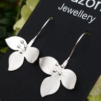 92.5 Sterling Silver Drop Earrings