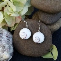 92.5 Sterling Silver Shell Earrings