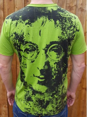 John Lennon - Imagine - Mirror - T Shirt  - Green - 100% cotton