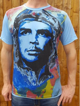 Che Guevara - Mirror - T-Shirt - Blue - 100% cotton