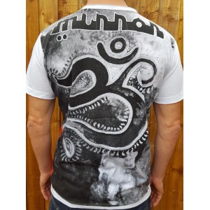 Om - Mirror - T Shirt  - White