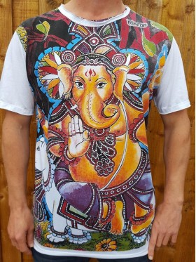 Ganesh - Mirror - T Shirt  - White - 100% cotton