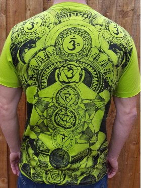 Chakra - Mirror - T shirt - Green - 100% cotton