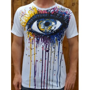 Eye painting - Mirror T Shirt  - White