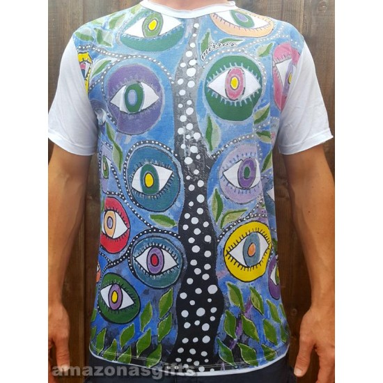 Eye Tree - Mirror - T-Shirt  - White