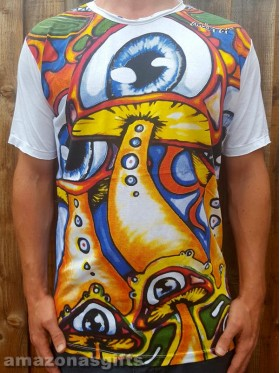 Eye - Mushroom - Mirror - T-Shirt  - 100% cotton