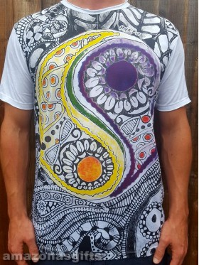 Ying Yang - Mirror - T-Shirt  - White  - 100% cotton