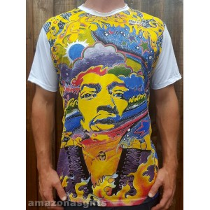 Jimi Hendrix - Mirror - T shirt  - White