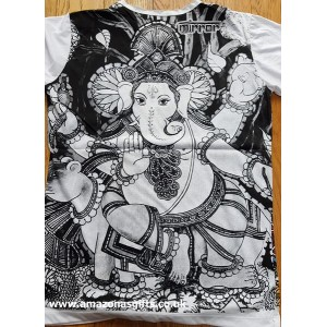 Ganesh - Mirror T Shirt  - White