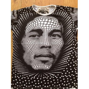 Bob Marley - (Dots) - Mirror - T-Shirt - White