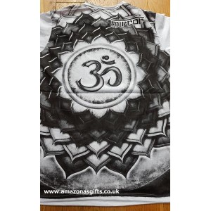 Om Lotus - Mirror T Shirt - White