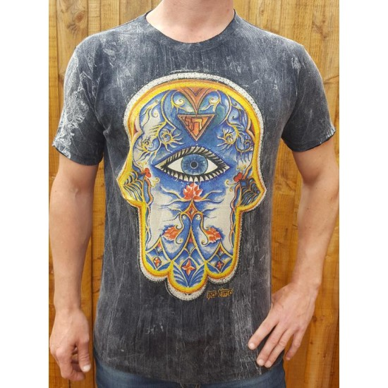 Hand of Fatima - Hamsa - No Time - 100% Premium cotton - T shirt  - Black