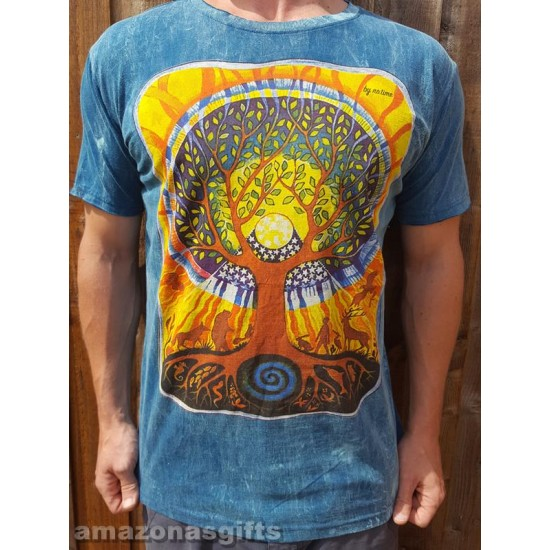 Tree of life - No Time - 100% Premium cotton - T shirt  -Aqua Green