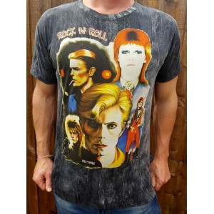 David Bowie - T-shirt -Ziggy Stardust - No Time - 100% cotton - Black