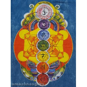 7 Chakras - No Time - T shirt -Black