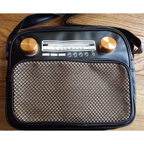 Retro - Vintage - Radio Bag - Black (Med)