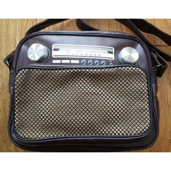 Retro-Vintage-Radio-Bag-Brown (Medium)