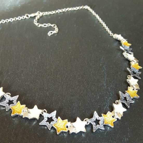 Enamel stars Necklace