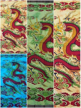 LARGE-Dragon-Wall Hanging-Tapestry-Throw-Bed Sheet-Fair-Trade-100%-cotton-Tapestries-Tie-Dye