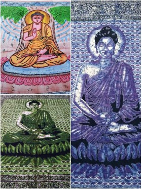 LARGE-Buddha-Wall Hanging-Tapestry-Throw-Bed Sheet-Fair-Trade-100%-cotton-Tapestries-Tie-Dye