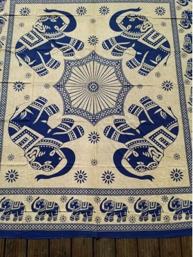 LARGE-Elephant-Wall Hanging-Tapestry-Throw-Bed Sheet-Fair Trade-100% cotton-Tapestries