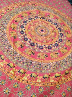 Mandala-Elephant-Camel-Wall Hanging-Throw-Tapestry-Bed Sheet-100% cotton-Fair Trade-Tapestries-India