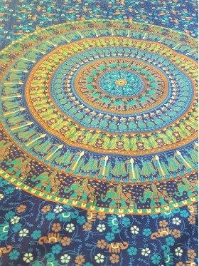 Elephant-Village-Mandala-Wall Hanging-Throw-Tapestry-Bed Sheet-Fair Trade-100% cotton-Tapestries