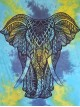 Elephant-Tie Dye-100%-Cotton-Wall Hanging-Tapestry-Throw-Bed-Sheet-fair-trade